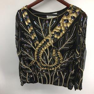 Chanson D'Aour Vintage Sequin Top
